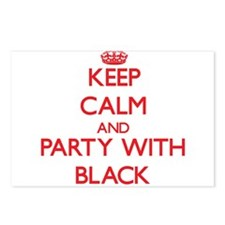 Keep calm and Party with Black Postcards (Package