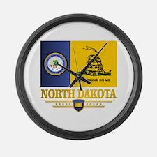 North Dakota Gadsden Large Wall Clock