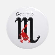 Scorpio Star Sign Ornament (Round)