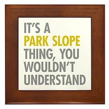Park Slope Thing Framed Tile