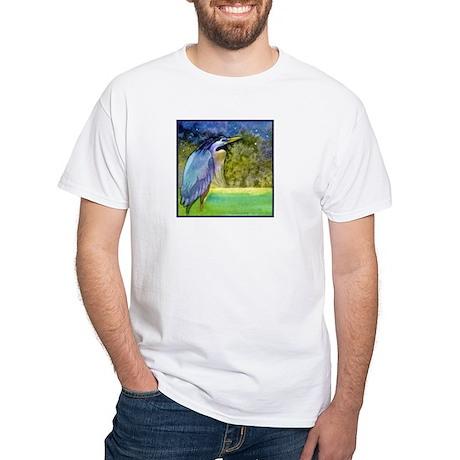 Beautiful Blue Heron White T-Shirt