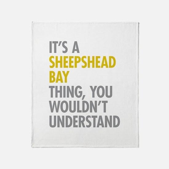Sheepshead Bay Thing Throw Blanket