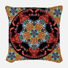 Suzani Mandala Woven Throw Pillow