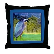 Beautiful Blue Heron Throw Pillow