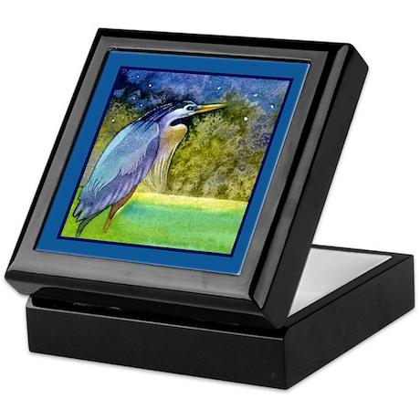 Beautiful Blue Heron Keepsake Box