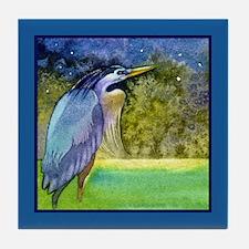 Beautiful Blue Heron Tile Coaster
