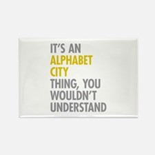 Alphabet City Thing Rectangle Magnet
