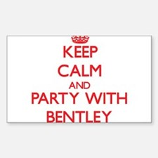 Keep calm and Party with Bentley Decal