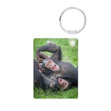Save the Chimps - Jude and Aluminum Photo Keychain