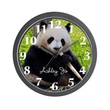 Personalized Panda Bear Wall Clock