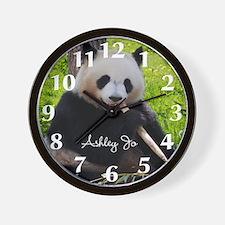Personalized Panda Bear Wall Clock