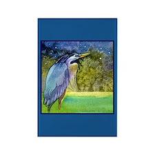 Beautiful Blue Heron Rectangle Magnet
