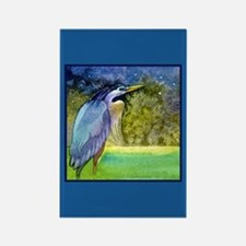 Beautiful Blue Heron Rectangle Magnet