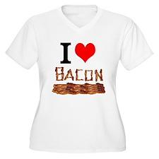 I Love Bacon Plus Size T-Shirt