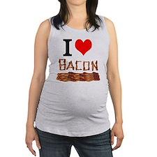 I Love Bacon Maternity Tank Top