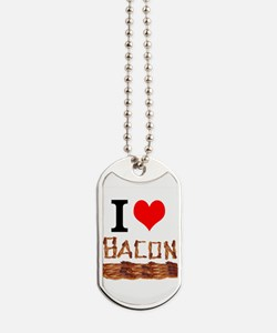 I Love Bacon Dog Tags