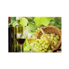 Wine and Grapes Rectangle Magnet