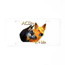 """Aucadogs """"Acd's R 4 Me"""" Aluminum License"""