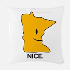 MN Woven Throw Pillow