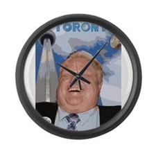 Rob Ford Mayor of Toronto Large Wall Clock