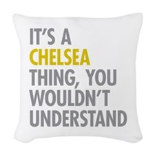 Chelsea Thing Woven Throw Pillow