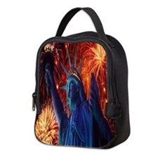 Lady Liberty Neoprene Lunch Bag