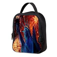 Lady Liberty Neoprene Lunch Bag
