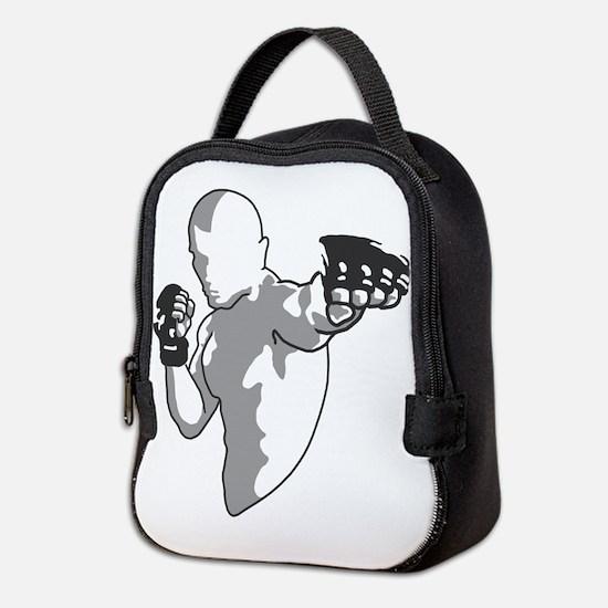 Fighter Punch Neoprene Lunch Bag