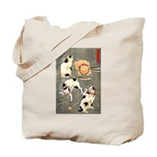 Four Cats in Different Poses Tote Bag