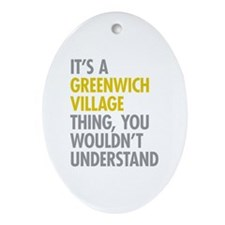 Greenwich Village Thing Ornament (Oval)
