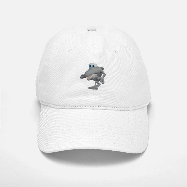 Funny Sneaky Shark Baseball Baseball Cap