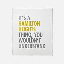 Hamilton Heights Thing Throw Blanket