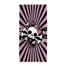 Cute Skull Crossbones Beach Towel