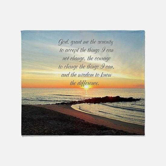 SERENITY PRAYER Throw Blanket