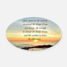 SERENITY PRAYER Oval Car Magnet