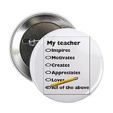 """Teacher Appreciation Gifts 2.25"""" Button (100 pack)"""