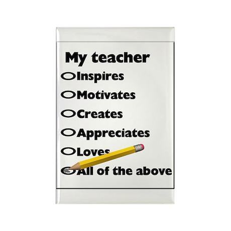 Teacher Appreciation Gifts Rectangle Magnet (100 p