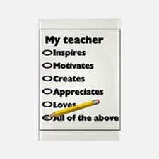 Teacher Appreciation Gifts Rectangle Magnet (10 pa