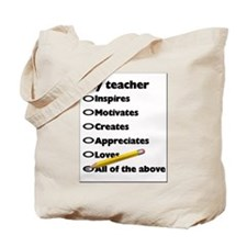 Teacher Appreciation Gifts Tote Bag