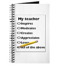 Teacher Appreciation Gifts Journal