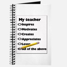 Teacher Appreciation Gifts Journal