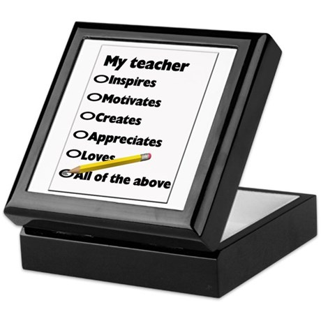 Teacher Appreciation Gifts Keepsake Box