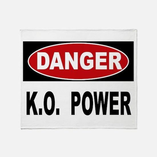 k.o power.jpg Throw Blanket