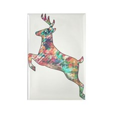 Trip Deer Silhouette Rectangle Magnet
