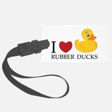 Love Rubber Ducks Luggage Tag