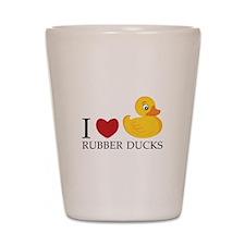 Love Rubber Ducks Shot Glass