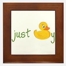 Just Ducky Framed Tile