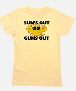 Sun's Out Guns Out Girl's Tee