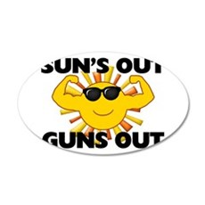 Sun's Out Guns Out Wall Decal