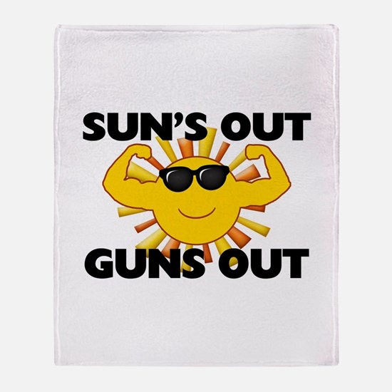 Sun's Out Guns Out Throw Blanket